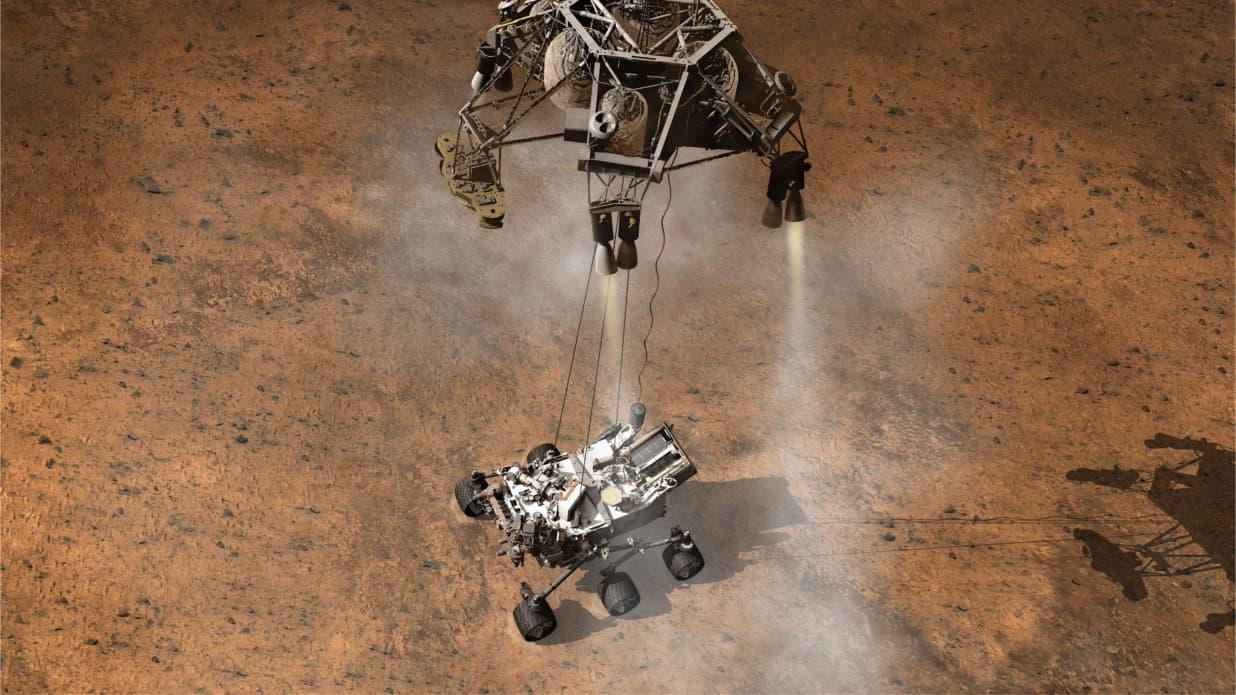 صورة 1 المركبة كيوريوسيتي والبحث عن الحياة على المريخ
